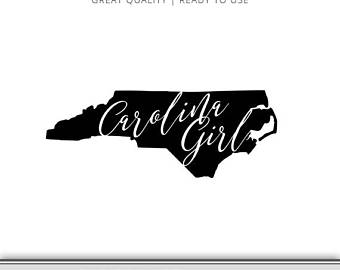 340x270 North Carolina Svg North Carolina State Outline Svg Vector Etsy
