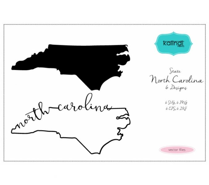 678x600 North Carolina Silhouette North Carolina State Svg Nc Vector File