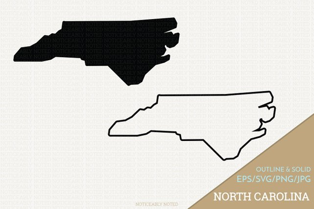 642x427 North Carolina Vector State Clipart Nc Clip Art North Etsy