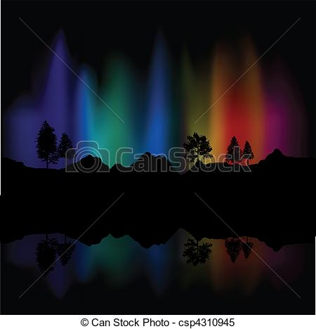 450x468 Northern Lights. Background Of Northern Lights In The Sky