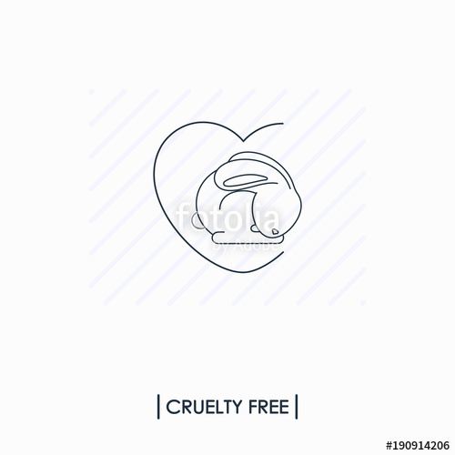 500x500 Cruelty Free Logo. Not Tested On Animals Stock Image And Royalty