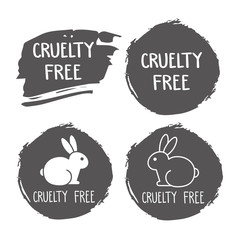 240x240 No Animals Testing Icon Design. Not Tested Sign. Animal Cruelty