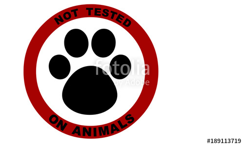 500x300 Not Tested On Animals Symbol Stock Image And Royalty Free Vector
