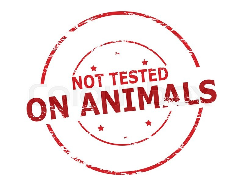 800x618 Rubber Stamp With Text Not Tested On Animals Inside, Vector