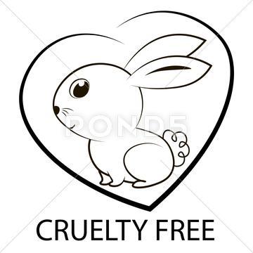 360x360 Animal Cruelty Free Icon Design. Animal Cruelty Free Symbol Design