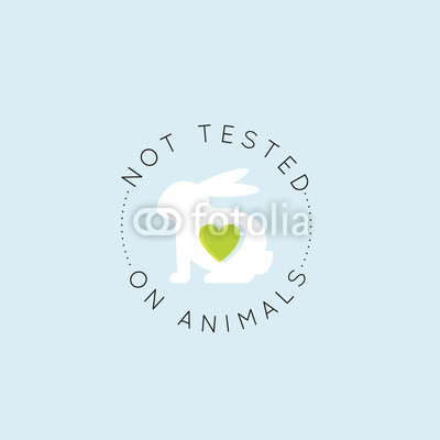 400x400 Vector Icon Style Illustration Logo Badge With Rabbit And Heart