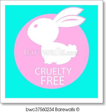 362x382 Art Print Of Animal Cruelty Free Icon Design. Animal Cruelty Free