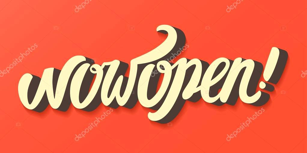 1022x511 Adorable Now Open Sign G4108328 Now Open Illustration Vector By