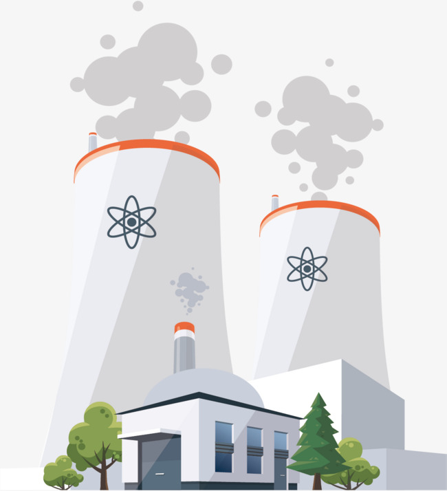 650x714 Nuclear Power Station, Vector Material, Nuclear Power Plant