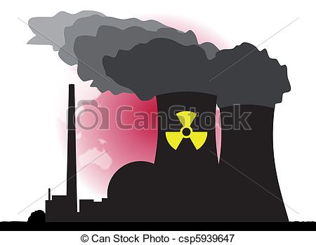 450x350 Nuclear Power. An Abstract Vector Illustration Of A Nuclear Power