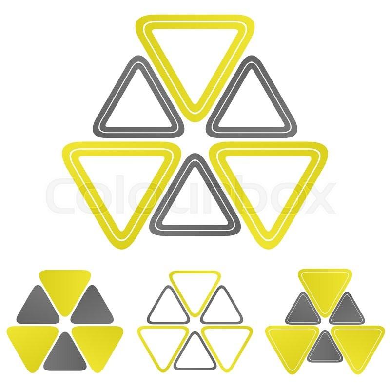 800x800 Nuclear Triangle Logo Vector. Nuclear Icon Symbol Design Template