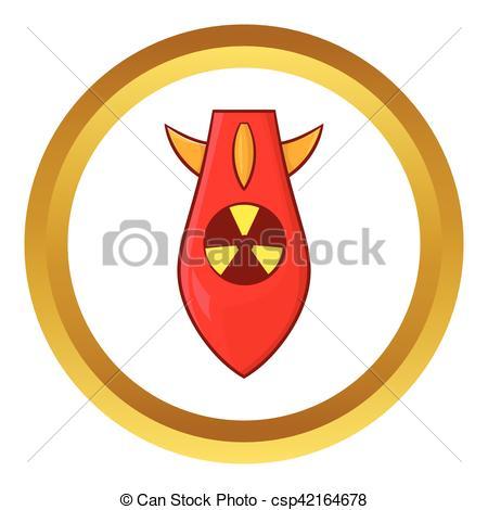 450x470 Nuclear, Vector, Ojiva, Icono. Dorado, Estilo, Cabeza Nuclear