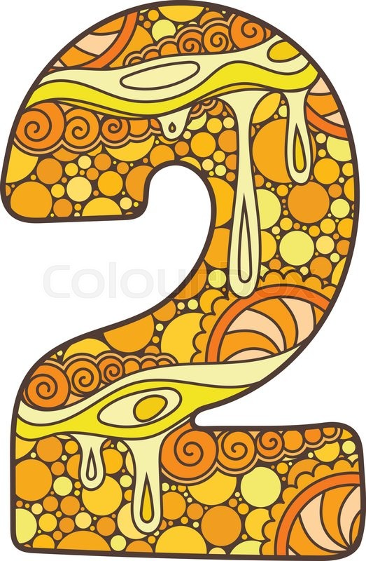 523x800 Zentangle Number. Vector Decorative Number Can Be Used For Web