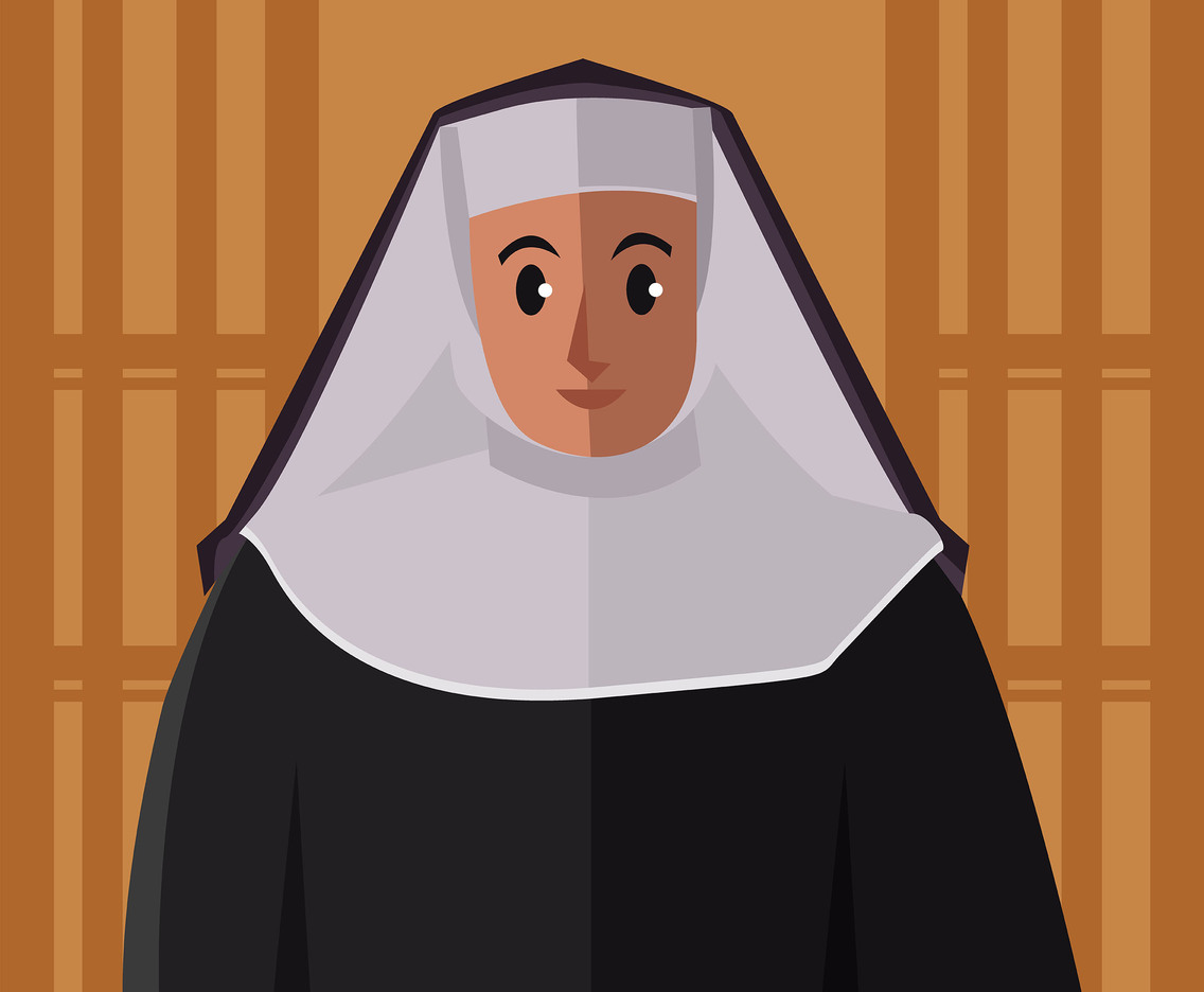 1136x936 Nun Illustration Vector Vector Art Amp Graphics