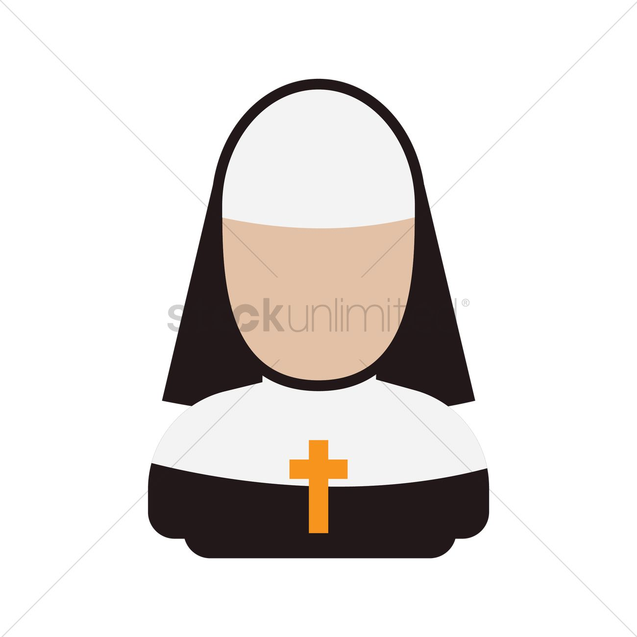1300x1300 Nun Vector Image
