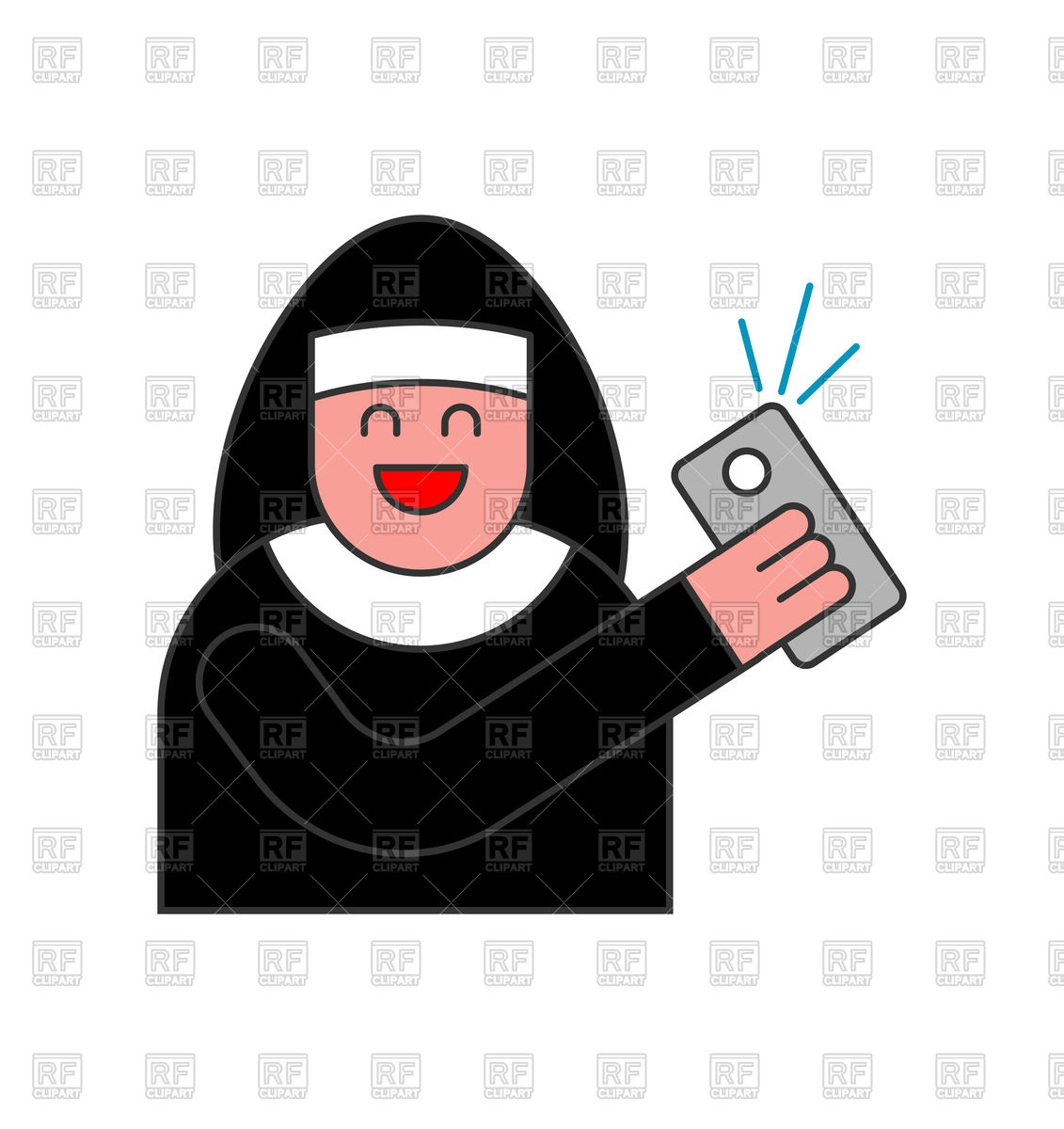 1131x1200 Nun Of Selfie. Catholic Religious Woman Photographed On Phone