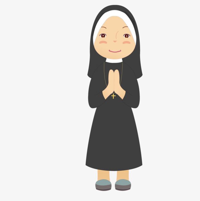 650x651 Pious Nun, Vector, Nun, Sincere Png And Vector For Free Download