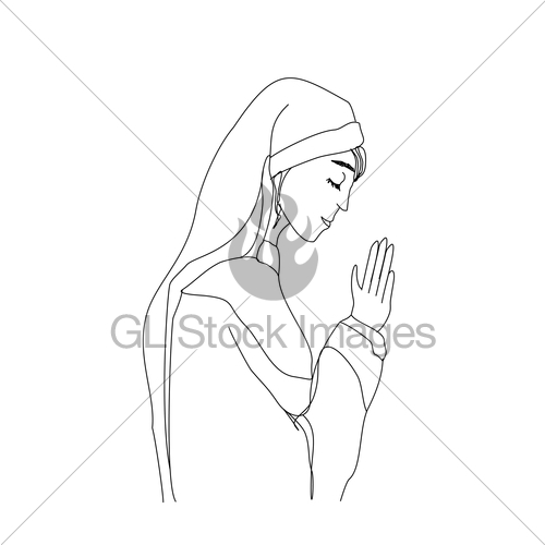 500x500 Vector Illustration Of Nun Gl Stock Images