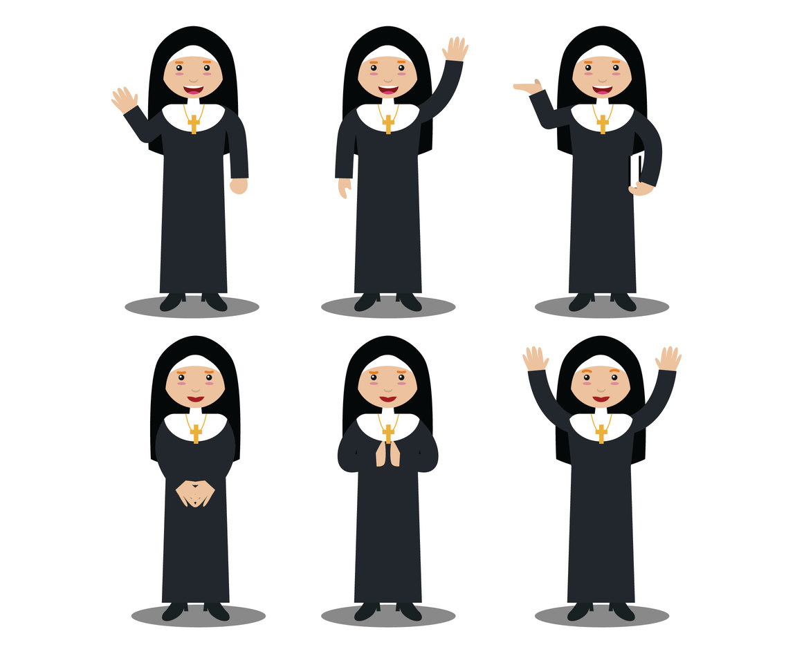 1136x936 Nun Character Vector Vector Art Amp Graphics