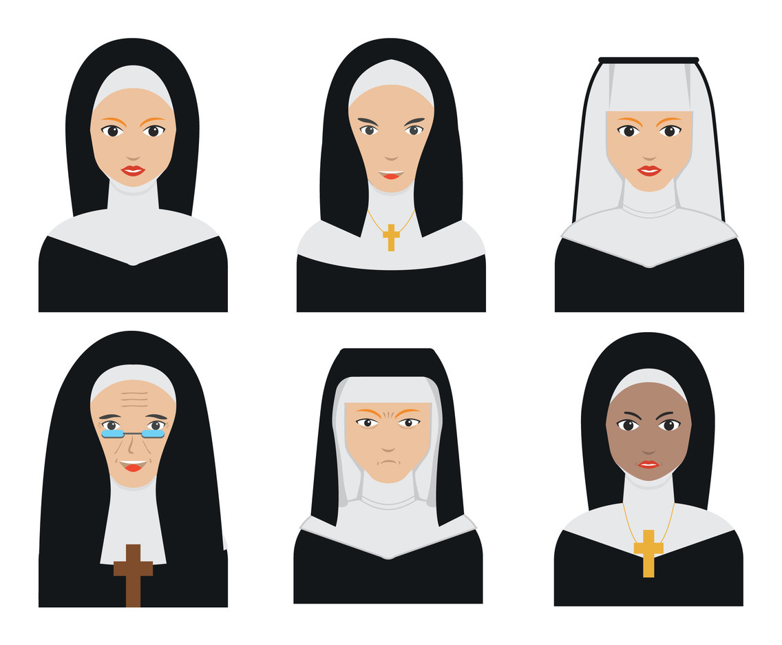 1136x936 Nun Face Vectors Vector Art Amp Graphics