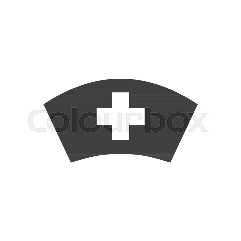 800x800 Nurse Hat Glyph Vector Icon. Isolated On The White Background