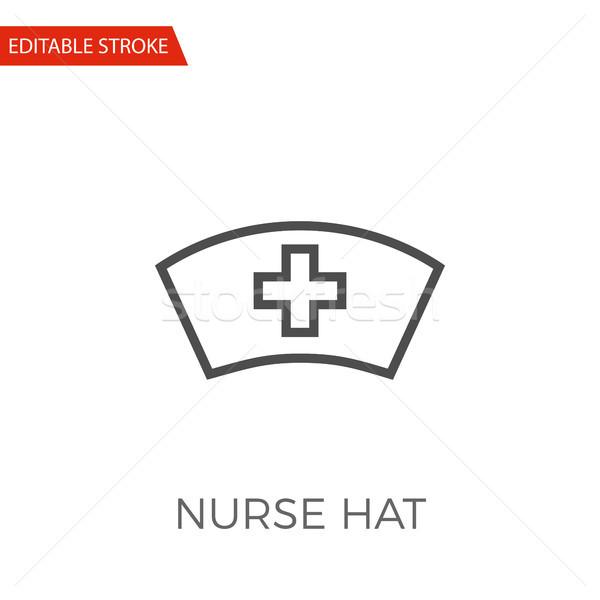 600x600 Nurse Hat Vector Icon Vector Illustration Oleksii Afanasiev