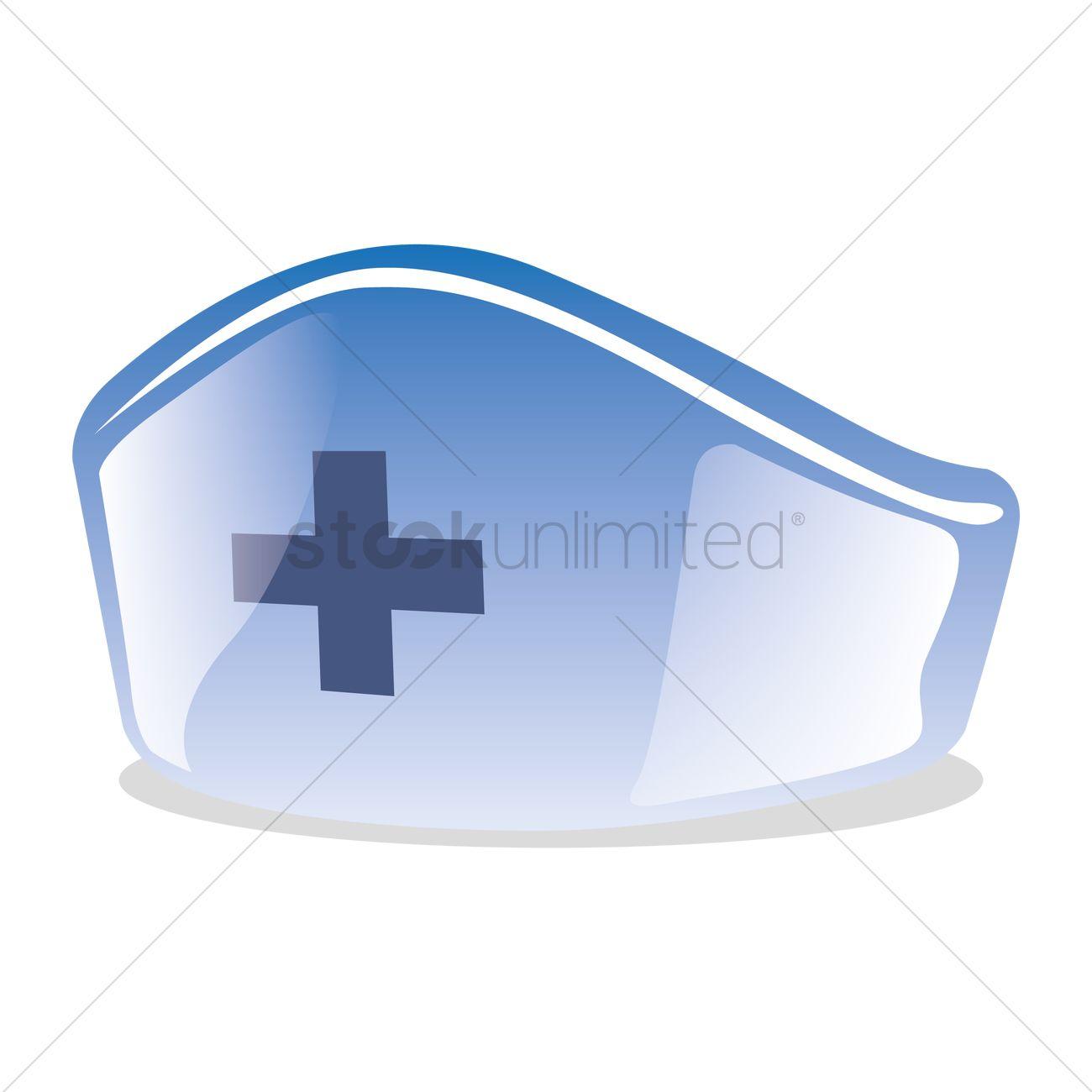 1300x1300 Nurse Hat Vector Image