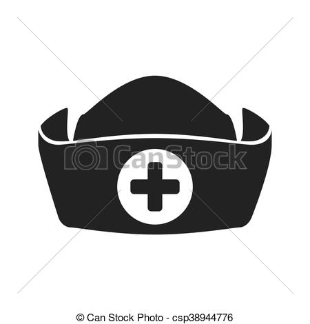 450x470 Nurse Hat Icon. Medical Care Design. Vector Graphic. Medical And