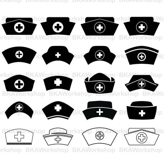 570x570 Nurse Hat Svg Nurse Hat Vector Nurse Hat Bundle Nurse Etsy