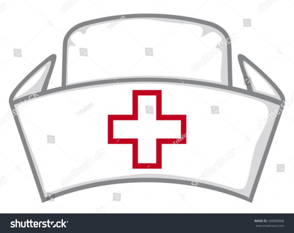 photograph regarding Printable Nurse Hat Template named Nurse Hat Vector at  Cost-free for particular person hire