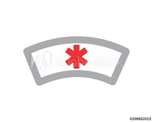 500x400 Nurse Hat Medical Medicare Pharmacy Clinic Image Vector Icon Logo