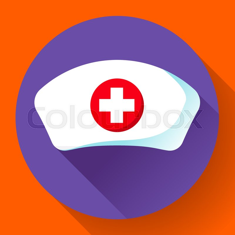800x800 Nurse Hat Icon Vector Flat Nurse Icon. Stock Vector Colourbox