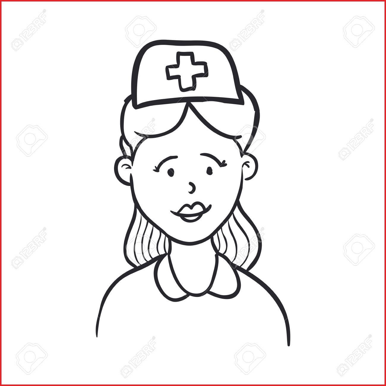 1300x1300 Nurse Drawing 129811 Nurse Draw Cartoon Icon Vector Illustration
