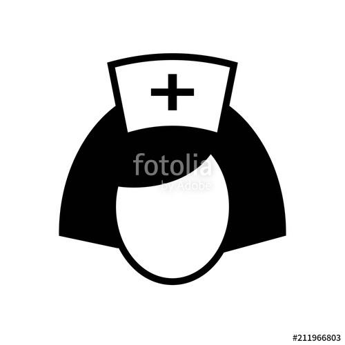 500x500 Nurse Icon Vector Icon. Simple Element Illustration. Nurse Symbol
