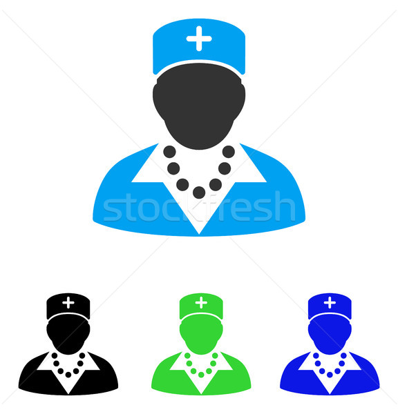 576x600 Nurse Flat Icon Vector Illustration Victor Ivlichev (Ahasoft