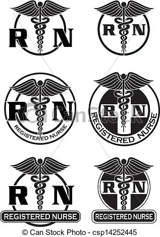 317x470 Registered Nurse Designs Graphic. Illustration Of Six Different