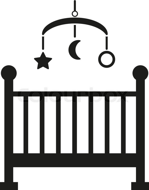 628x800 Childrens Bed Icon. Baby Bed Design. Cradle And Home, Nurse Symbol