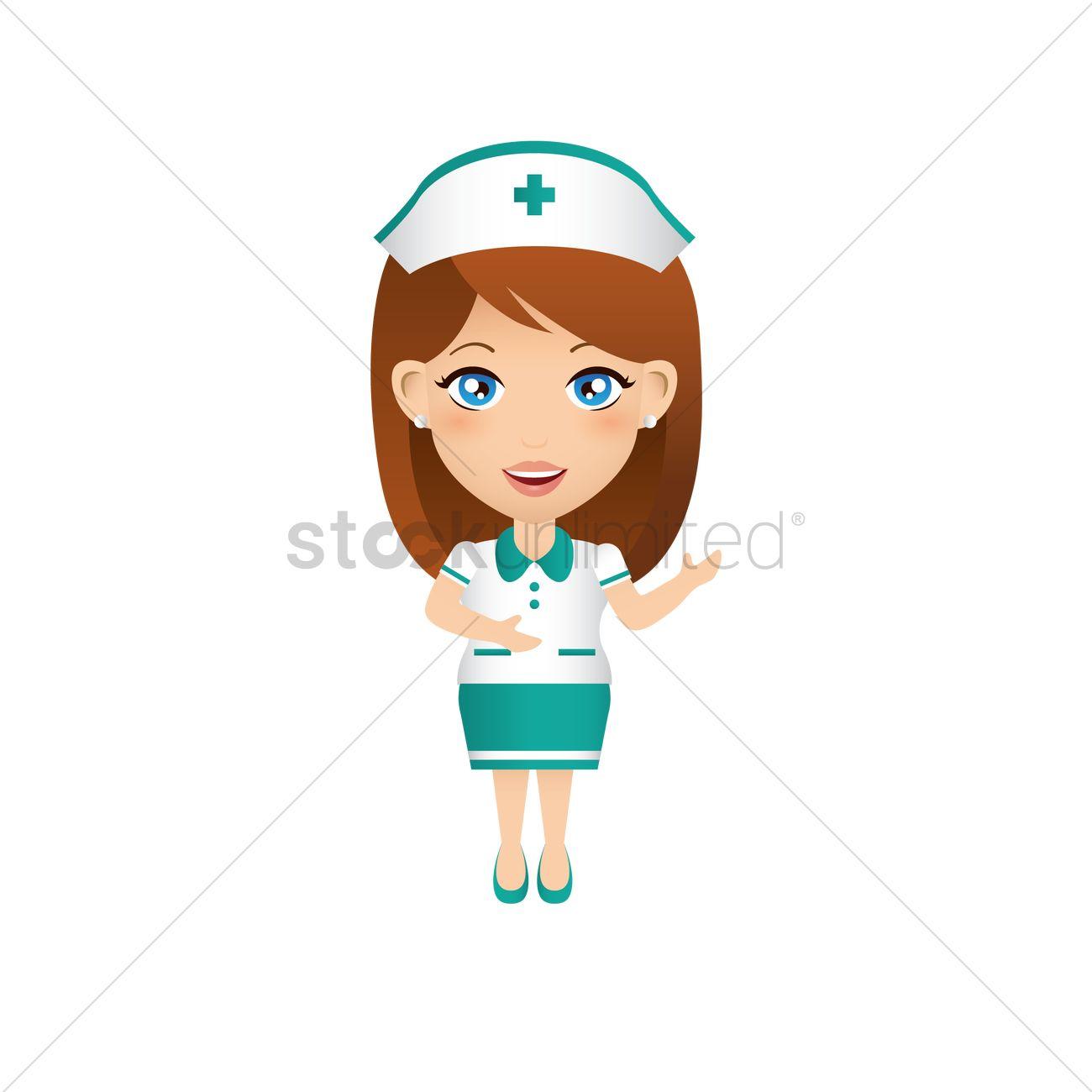 1300x1300 Smiling Nurse Vector Image