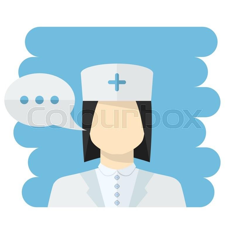 800x800 Vector Nurse Vector.vector Medical Worker Icon Female Nurse Avatar