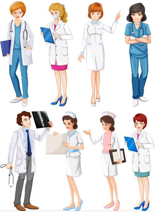 506x690 Doctors And Nurses Free Vector Ai Format Free Vector Download