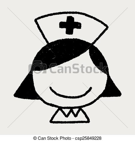 450x470 Doodle Nurse Vector Illustration