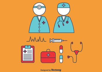 352x247 Nurse Vector Icon Set Free Vector Download 363281 Cannypic