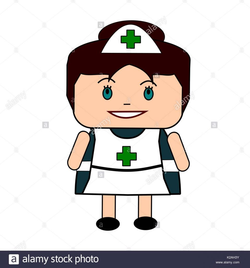 958x1024 Sensational Cartoon Nurse Images In Traditional Uniform Stock
