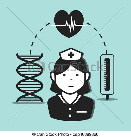 450x470 Avatar Woman Nurse Medical Assitance With Medicine Icon Set