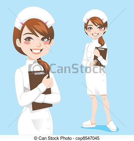 449x470 Beautiful Nurse. Beautiful Friendly And Confident Nurse Smiling