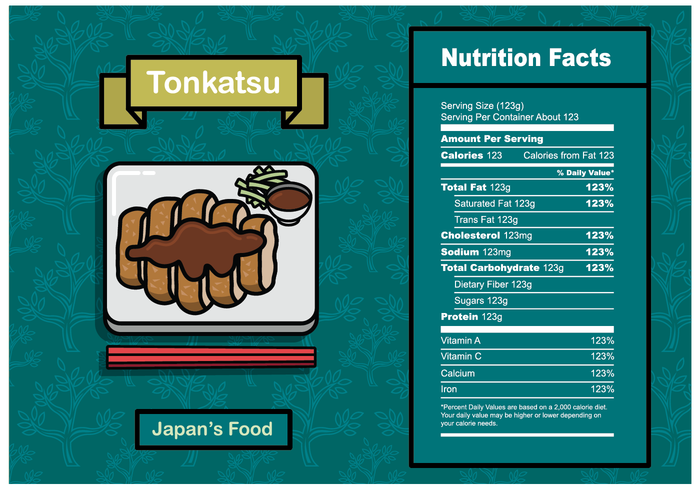 700x490 Nutrition Facts Label Vector Templates