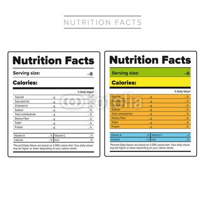 400x400 Nutrition Facts Label Vector Color Buy Photos Ap Images