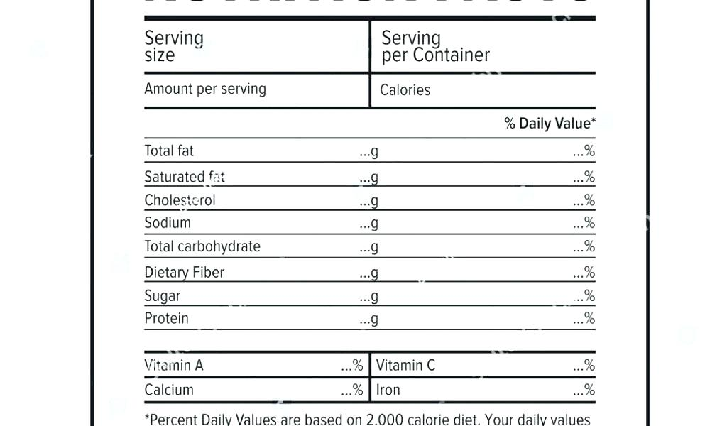 1024x600 Blank Nutrition Facts Label Template Vlogsmedia.co