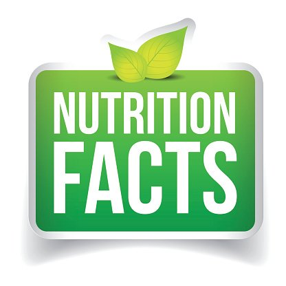 416x416 Nutrition Facts Button Vector Premium Clipart