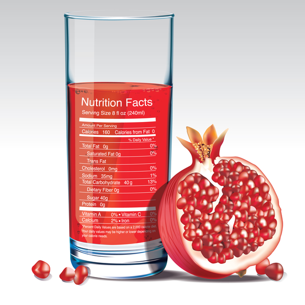 600x600 Pomegranate Juice Nutrition Vector Free Download